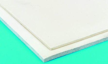 White Silicone Sponge Rubber Sheet, 1m x 600mm x 6mm