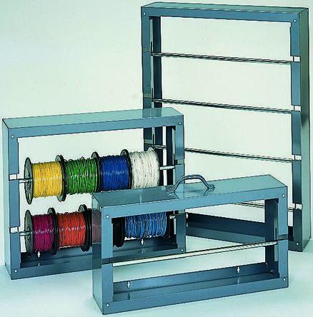 RS PRO Cable Rack 454mm (H) x 152.4mm (L) x 663.6 mm (W) 2 shelves in Steel