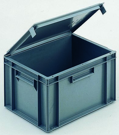 Main Product & R21C20.P5 | Schoeller Allibert 20L Grey Plastic Storage Box 246mm x ...