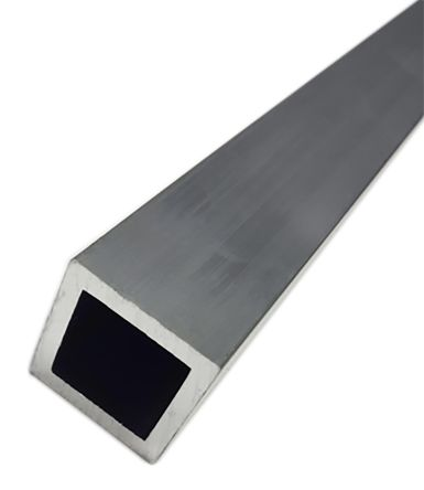 6063 T6 Square Aluminium Tube, 1m x 1in, 10SWG product photo