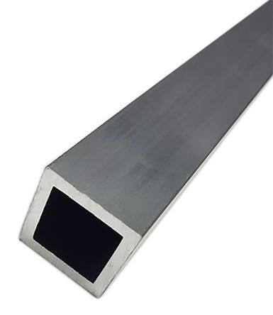 6063 T6 Square Aluminium Tube, 1m x 2in, 10SWG product photo