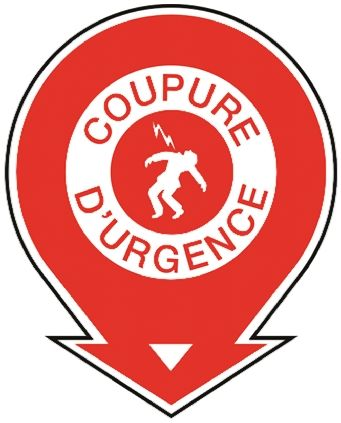 Brady PET Red/White Safe Conditions Sign, Coupure D'Urgence, French