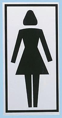 Brady PET Black/White Location Sign, None