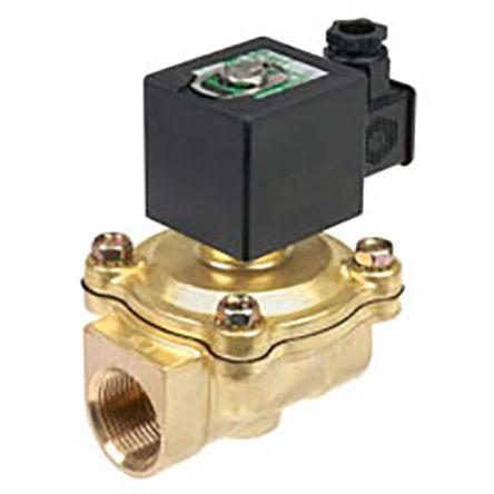 Válvula de solenoide Asco SCG238A046-24VCC, 2 puertos , 24 V dc, 1/2plg