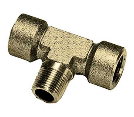Brass 1/2 in BSPT Male x 1/2 in BSPP Female Straight Reducer Threaded Fitting product photo