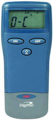 Digitron 2000T Digital Thermometer, 1 Input Handheld, K Type Input With SYS Calibration