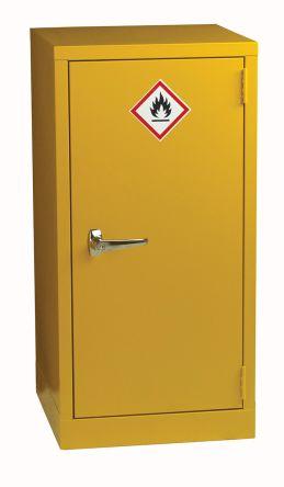 rs pro yellow steel lockable 1 doors hazardous substance cabinet