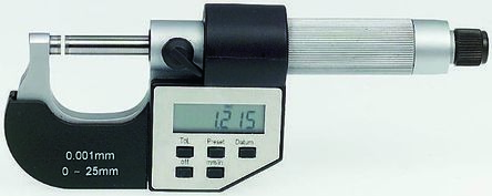 Digital External Micrometer,0-25mm/0-1in