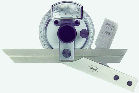 Mahr Metric Precision Protractor, 360° Range, 300mm Stainless Steel Blade