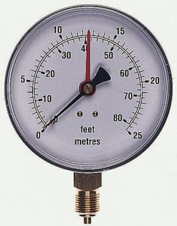 34/604/0 Analogue Positive Pressure Gauge Bottom Entry, Connection Size BSP 3/8 product photo