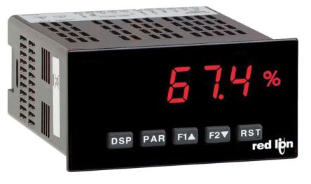 Red Lion PAXD0010 , LED Digital Panel Multi-Function Meter for Current,  Strain, Temperature, Voltage, 96 5mm x 49 5mm