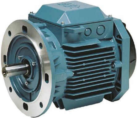 ABB 3GAA Reversible Induction AC Motor, 7.5 kW, IE2, 3 Phase, 4 Pole, 415 V ac, Flange Mount Mounting