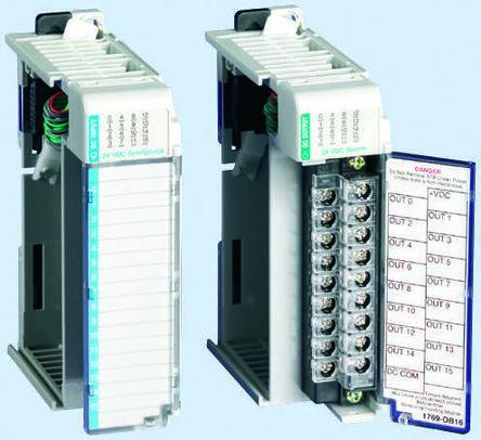 Allen Bradley Micrologix 1500 Plc I O Module 16 Outputs 24 V Dc