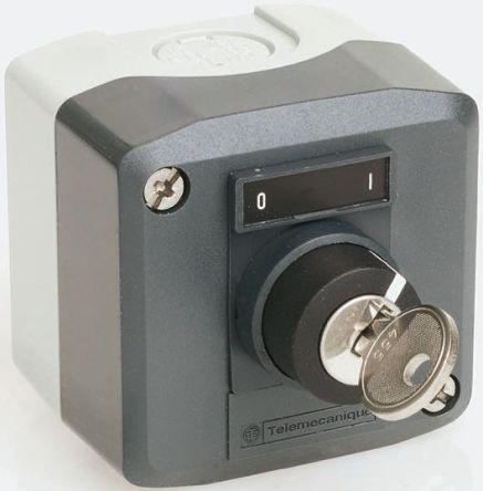 Schneider Electric Harmony XALD NO Control Station Switch, IP66, IP67, IP69, IP69K 53mm Dark Grey/Light Grey