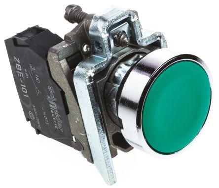 Schneider Electric Harmony XB4 Green Push Button NO Spring Return