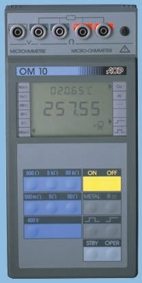 Aoip Instrumentation, Model OM 10 Ohm Meter, Maximum Resistance Measurement 50 kΩ
