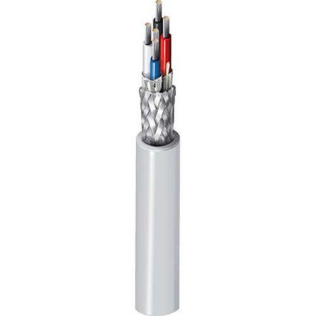 Belden 4 Conductor Foil Industrial Cable 0.6 mm²(Euroclass Eca) Grey PVC Sheath, 152m Reel