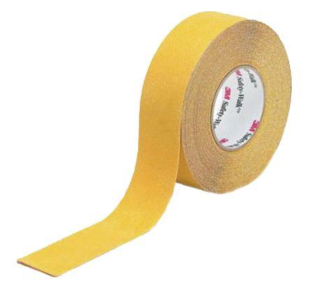 3M Yellow Polypropylene 18m Hazard Tape, 50.8mm x