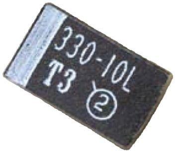 Vishay 1μF 16V dc Tantalum Capacitor MnO2 Solid ±10% Tolerance 293D Series