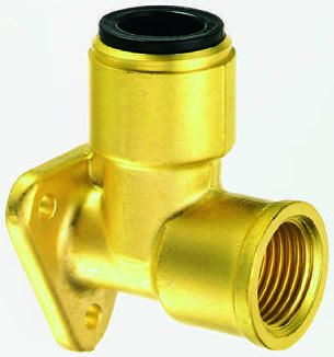 90° Brass Push Fit Fitting 22mm product photo