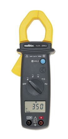 MX0350-Z Clamp Meter, Max Current 400A ac CAT II 600 V, CAT III 300 V product photo