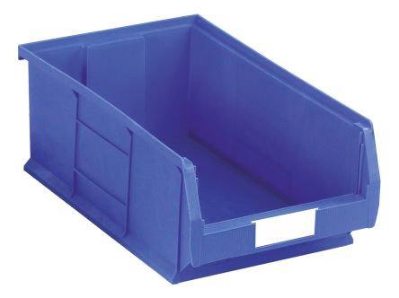 RS Pro Blue Plastic Stackable Storage Bin 200mm x 315mm x 510mm