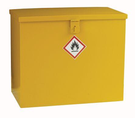 Yellow Steel Lockable 1 Doors Hazardous Substance Cabinet, 510mm x 620mm x 330mm product photo