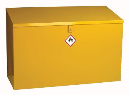 Yellow Steel Lockable 1 Doors Hazardous Substance Cabinet, 762mm x 1m x 460mm product photo