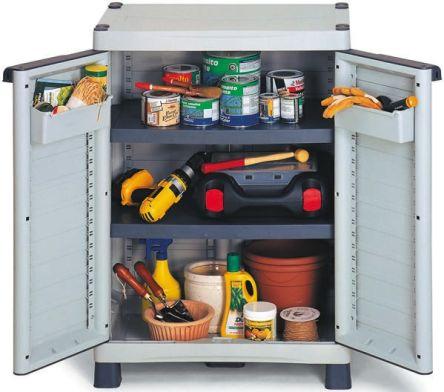 PP Grey Modular Shelving Base Cabinet, 976mm x 700mm x 438mm product photo