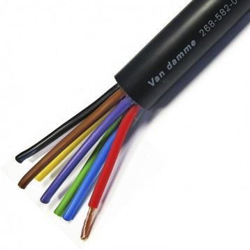 Van Damme 50m Black 8 Core Speaker Cable, 2 5 mm² CSA PVC Sheath Material  in PVC Insulation 300/500 V