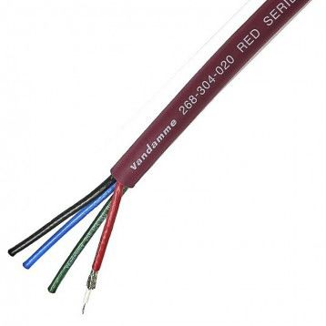 50m Audio Video Combined Cable, 4 Core 75 O, Screened, 30 Red 8.9mm OD product photo