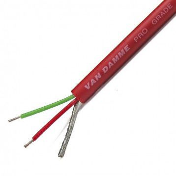 100m Screened Red Microphone Cable, 250 V, 4.85mm od , 0.22 mm² CSA product photo