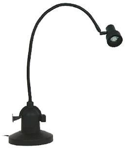 Sunnex Halogen Desk Lamp, 20 W, Reach:700mm, Flexible Neck, Black, 240 V ac, Lamp Included