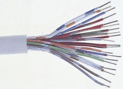 Blanco Bt especificación 2 Par 4 Core cw1308 teléfono conductor de cobre Cable