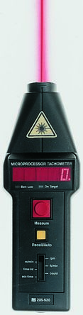 Compact CT6/LSR Tachometer, Best Accuracy ±0.05 % Optical LED 99999rpm