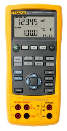 Fluke 724 temp calibrator w/dual display