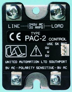 United Automation, PAC-2, Thyristor Trigger Module, 250V ac, 57 x 44 x 28mm