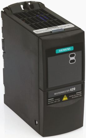 Siemens Inverter Drive, 3-Phase In, 0 → 550Hz Out 2 2 kW, 400 V ac, 7 5 A  MICROMASTER 440, IP20