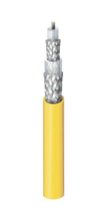 Belden Yellow Tri-axial Cable 6.12mm OD Polyvinyl Chloride PVC, 30m