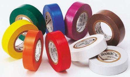 3M Yellow Electrical Insulation Tape, 1/2in x 20ft