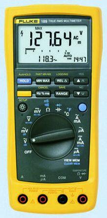 1641403 fluke 187 digital multimeter handheld 10a ac 1000v ac rh uk rs online com Fluke 189 Multimeter and Data Logging Software Fluke Multimeter 187
