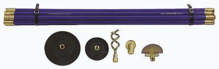 Lockfast drain rod set,10x3/4inx3ft rod