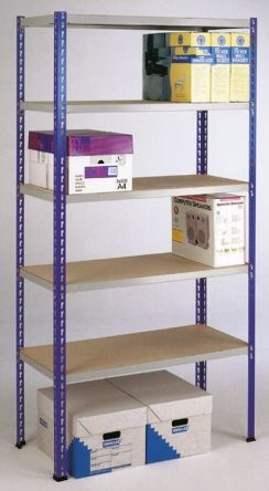 Grey Easi-Rack Steel Shelf Kit, 238kg Load, 1980mm x 900mm x 600mm product photo