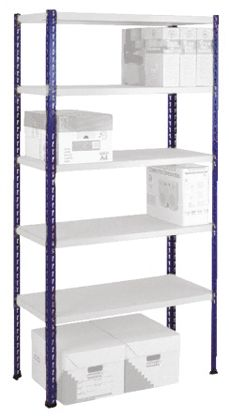 Blue Easi-Rack Steel Upright Frame and Footplates, 375kg Load, 1981mm product photo