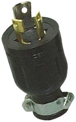 American Denki Japanese Mains Plug NEMA 1 - 15P, 15A, Cable Mount, 125 V ac