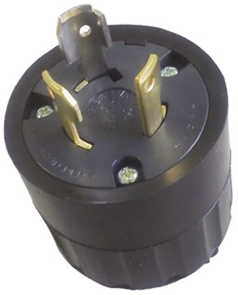 American Denki Japanese Mains Plug NEMA 1 - 15P, 30A, Cable Mount, 250 V ac