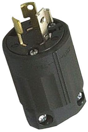 American Denki USA Mains Plug NEMA L6 - 15P, 15A, Cable Mount, 250 V ac