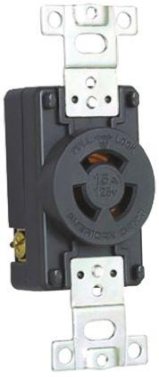 American Denki Japanese Mains Sockets NEMA 1 - 15R, 15A, Cable Mount, 125 V ac