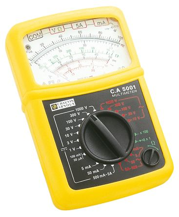 Chauvin Arnoux C.A 5001 Analogue Multimeter 5A ac/dc 1000V ac/dc, With UKAS Calibration