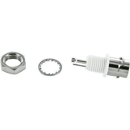 C RS Pro Straight 50Ω Panel Mount Bulkhead Fitting BNC Connector jack Silver